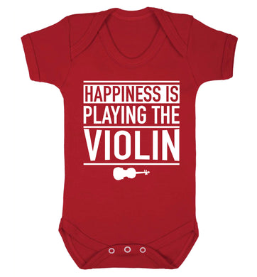 Happiness is playing the violin Baby Vest red 18-24 months