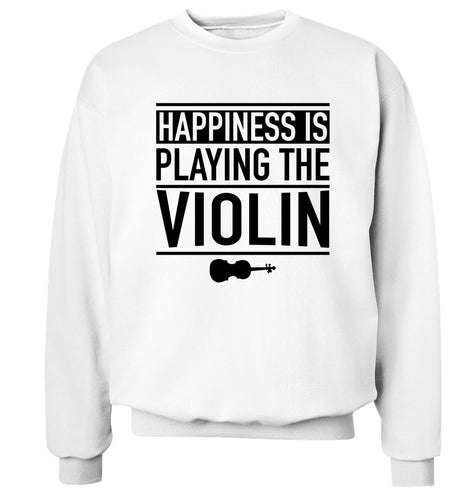 Happiness is playing the violin Adult's unisex white Sweater 2XL