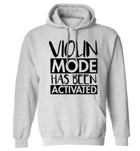 Violin Mode Activated adults unisex grey hoodie 2XL