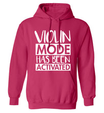 Violin Mode Activated adults unisex pink hoodie 2XL