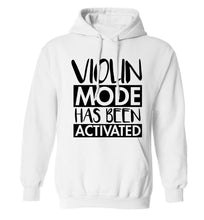 Violin Mode Activated adults unisex white hoodie 2XL