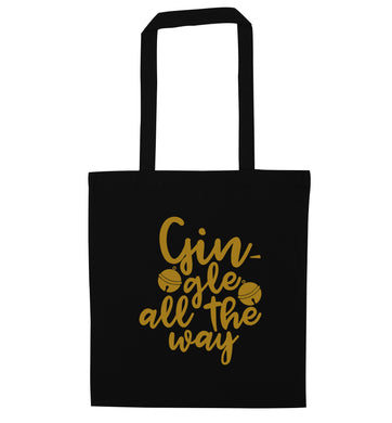 Gin-gle all the way black tote bag