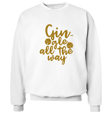 Gin-gle all the way Adult's unisex white Sweater 2XL
