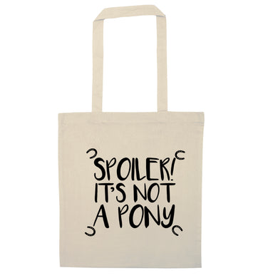Spoiler it's not a pony natural tote bag