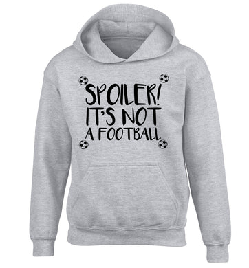 Spoiler it's not a football children's grey hoodie 12-13 Years