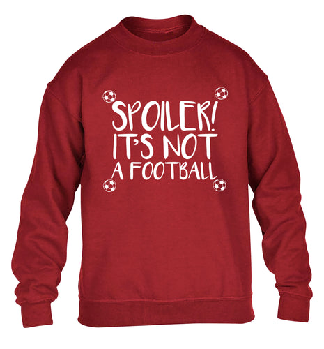 Spoiler it's not a football children's grey sweater 12-13 Years