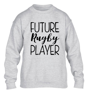 Future rugby player children's grey sweater 12-13 Years