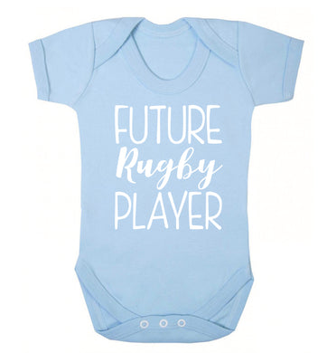 Future rugby player Baby Vest pale blue 18-24 months