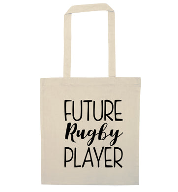 Future rugby player natural tote bag