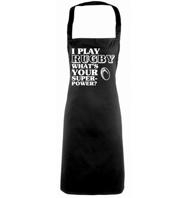 I play rugby what's your superpower? black apron