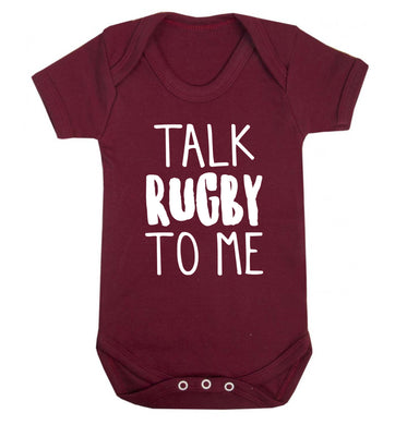 Talk rugby to me Baby Vest maroon 18-24 months