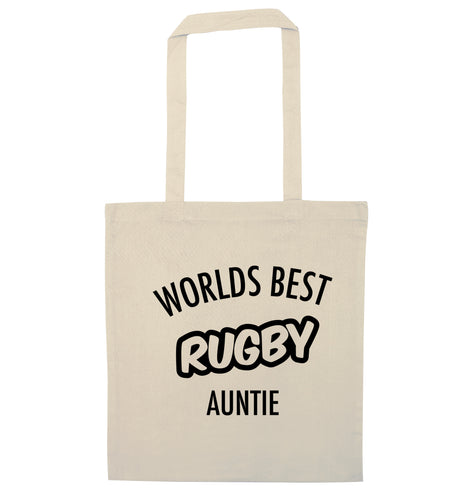Worlds best rugby auntie natural tote bag