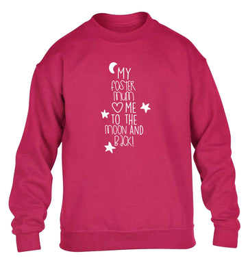 My foster mum loves me to the moon and back children's pink sweater 12-13 Years