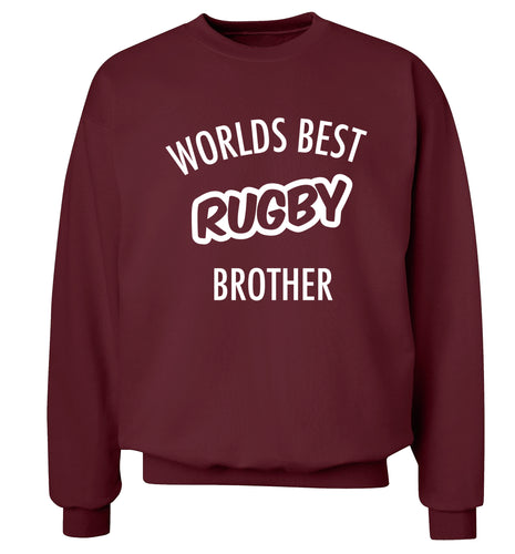 Worlds best rugby brother Adult's unisex maroon Sweater 2XL