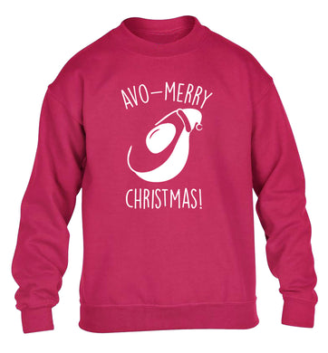 Avo-Merry Christmas children's pink sweater 12-13 Years