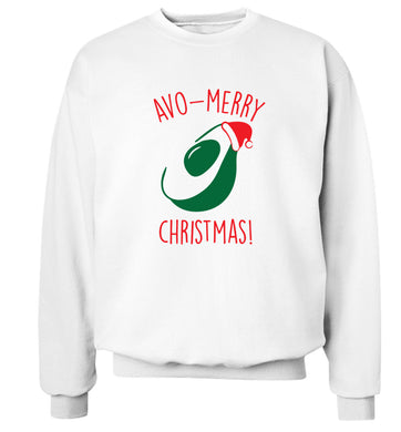 Avo-Merry Christmas Adult's unisex white Sweater 2XL