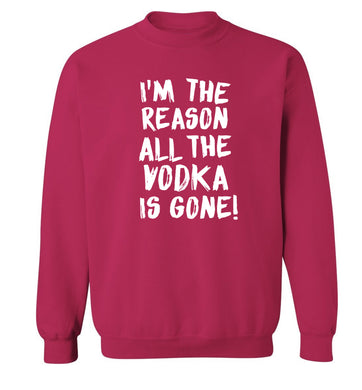 I'm the reason all the tequila is gone Adult's unisex pink Sweater 2XL
