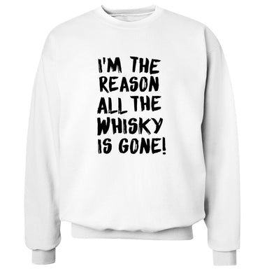 I'm the reason all the whisky is gone Adult's unisex white Sweater 2XL