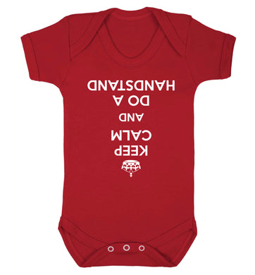 Keep calm and do a handstand Baby Vest red 18-24 months