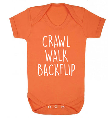 Crawl Walk Backflip Baby Vest orange 18-24 months