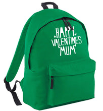 Happy valentines mum green adults backpack