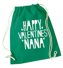 Happy valentines nana green drawstring bag
