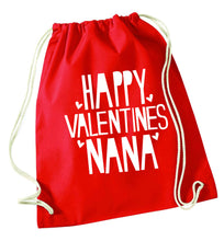 Happy valentines nana red drawstring bag