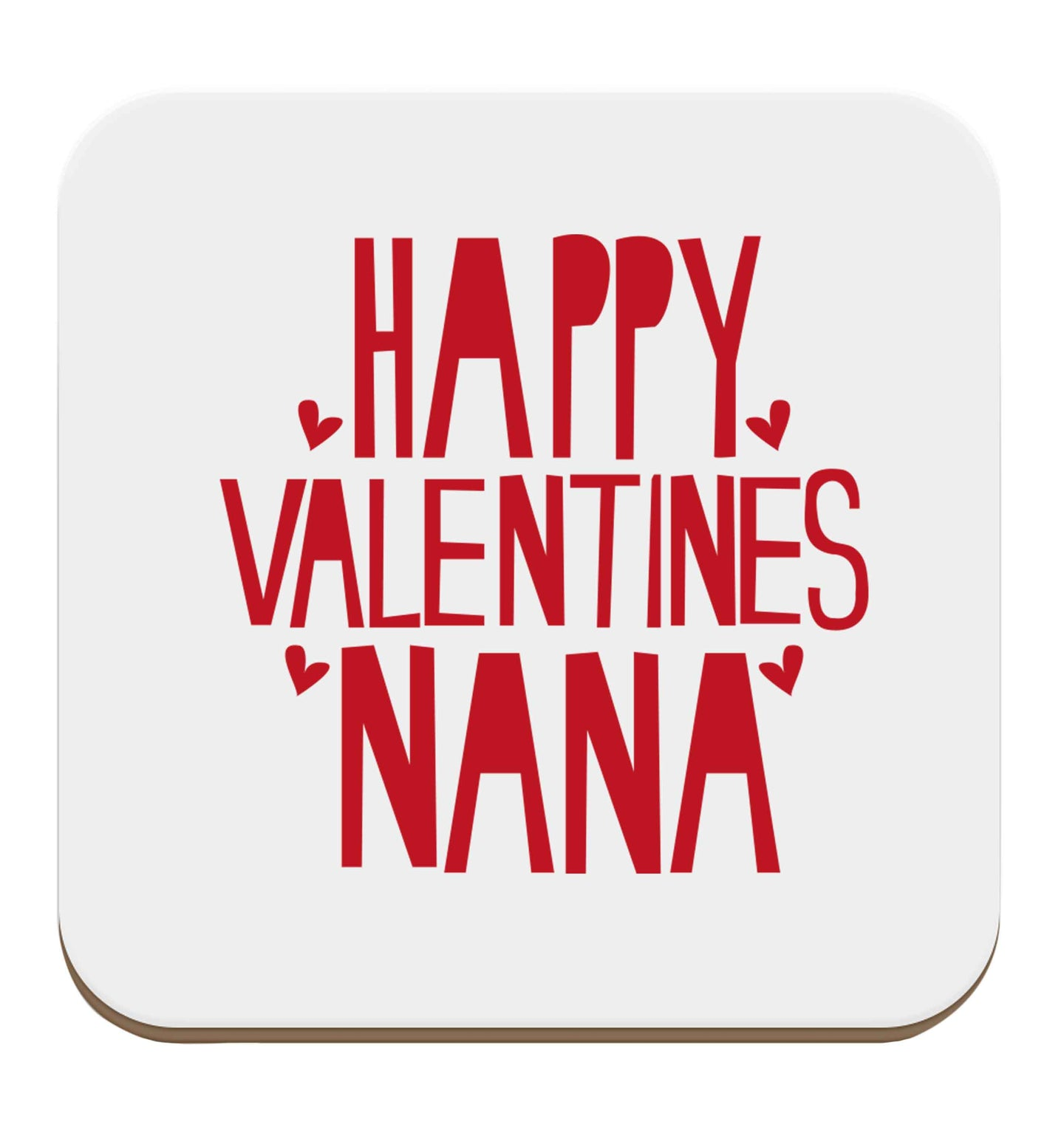 Happy valentines nana set of four coasters