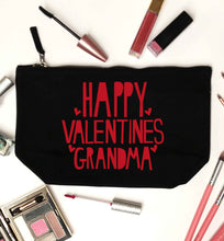Happy valentines grandma black makeup bag