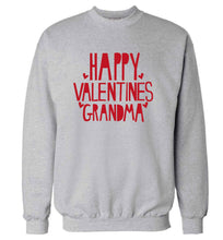 Happy valentines grandma adult's unisex grey sweater 2XL