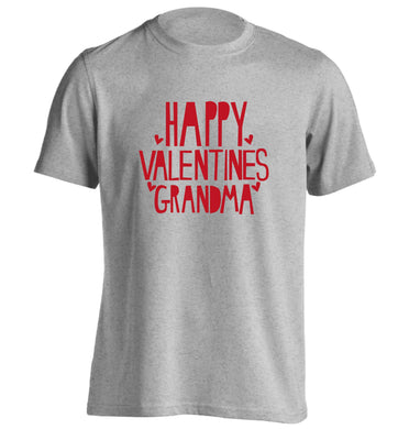 Happy valentines grandma adults unisex grey Tshirt 2XL