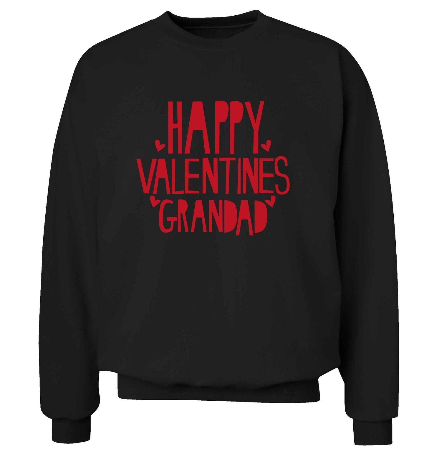 Happy valentines grandad adult's unisex black sweater 2XL