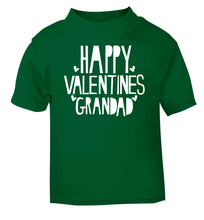 Happy valentines grandad green baby toddler Tshirt 2 Years