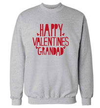 Happy valentines grandad adult's unisex grey sweater 2XL