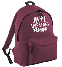 Happy valentines grandad black adults backpack