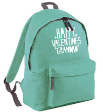 Happy valentines grandad mint adults backpack