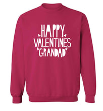 Happy valentines grandad adult's unisex pink sweater 2XL