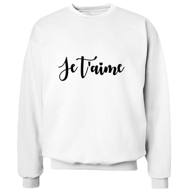 Je t'aime adult's unisex white sweater 2XL