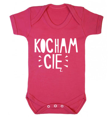 Kocham ci_ - I love you Baby Vest dark pink 18-24 months