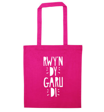 Rwy'n dy garu di - I love you pink tote bag