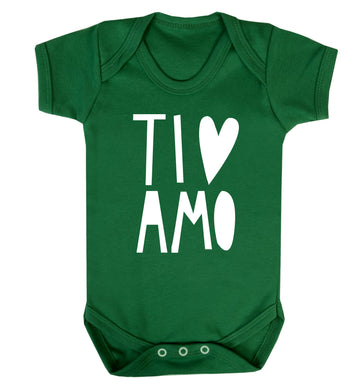 Ti amo - I love you Baby Vest green 18-24 months