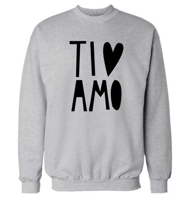 Ti amo - I love you Adult's unisex grey Sweater 2XL