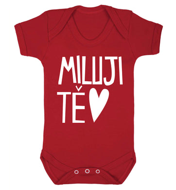 Miluji T_ - I love you Baby Vest red 18-24 months
