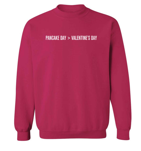 Pancake day > valentines day adult's unisex pink sweater 2XL