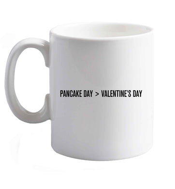 10 oz Pancake day > valentines day ceramic mug right handed