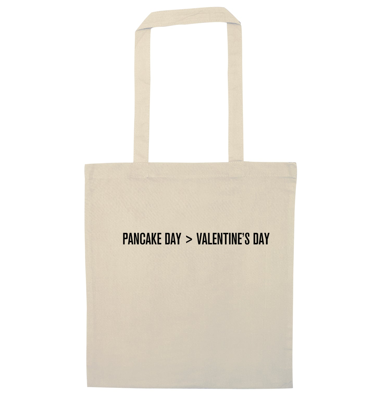Valentine's day > pancake day natural tote bag