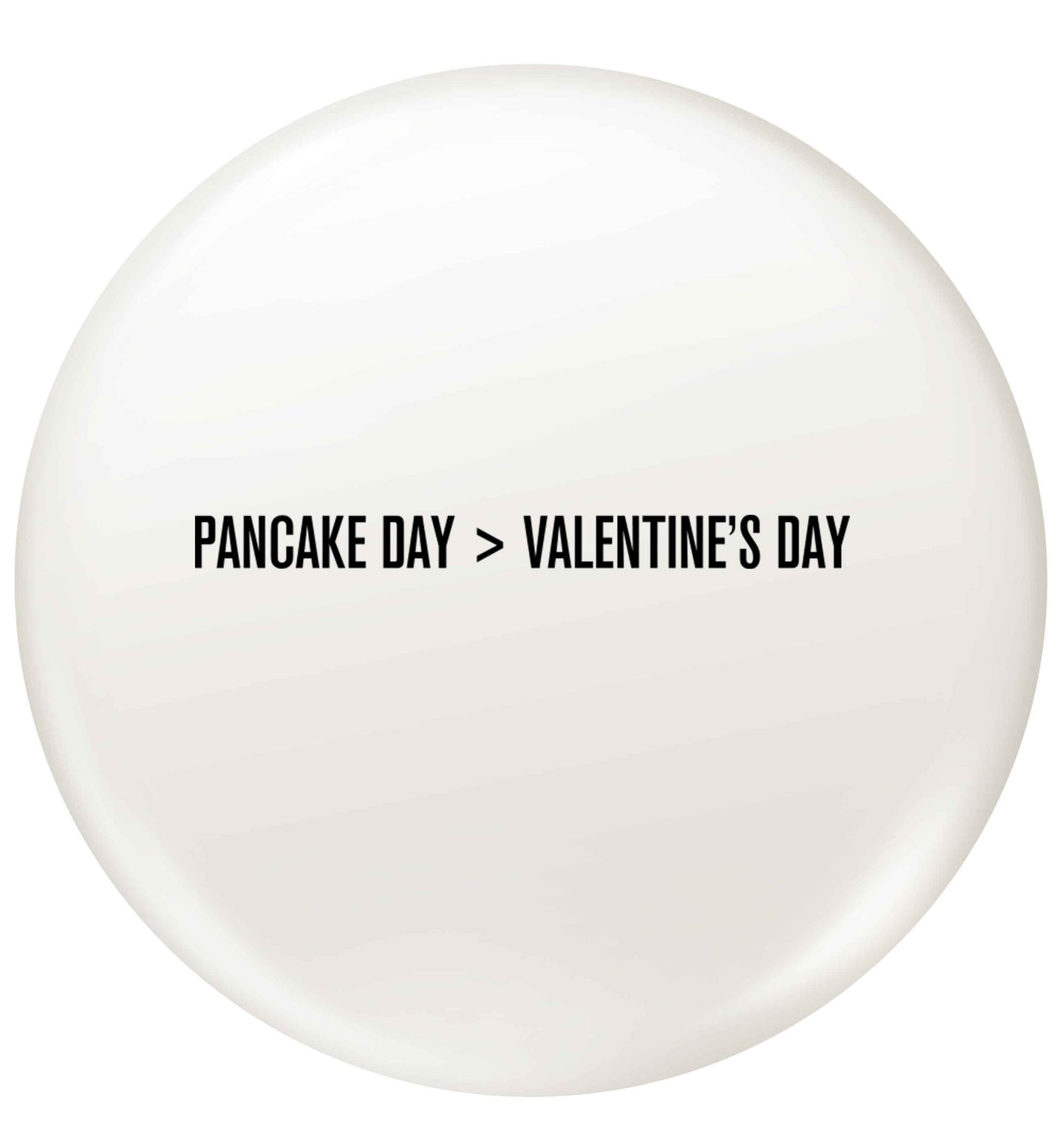 Pancake day > valentines day small 25mm Pin badge