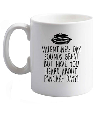 10 oz Valentine's Day Great Heard Pancake Day ceramic mug right handed