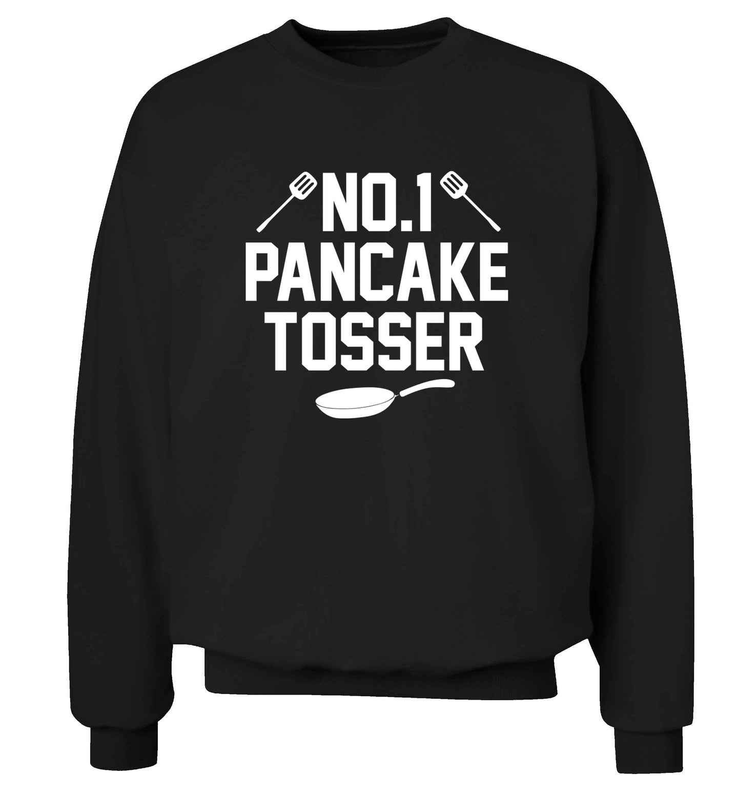 No.1 Pancake tosser adult's unisex black sweater 2XL