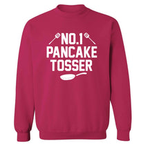 No.1 Pancake tosser adult's unisex pink sweater 2XL